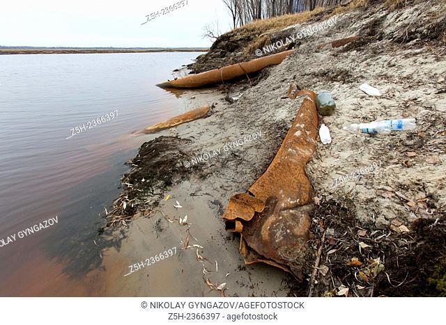 Khanty - Mansiysk Autonomous Okrug-Yugra. Contamination of water area