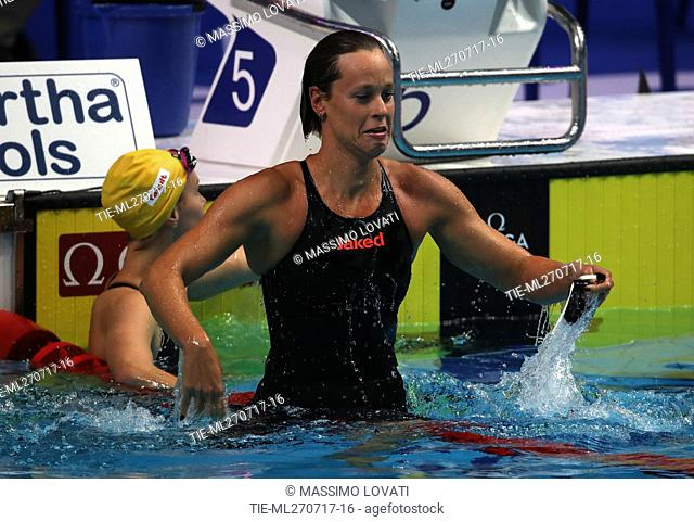 Federica Pellegrini, gold medal 200 m.Freestyle attends the 17th FINA World Championship, Afternoon Finals, Budapest, Hungary 26/07/2017