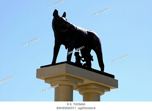 Constanta, Romulus and Remus sippling at the wolf mother, Romania, Black Sea Coast, Constanta