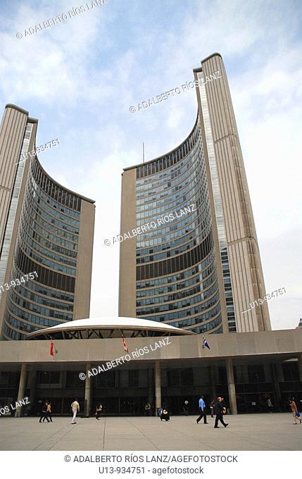 Toronto City Hall building designed by Viljo Revel. Toronto, Ontario, Canada