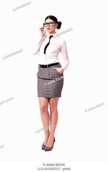 Portrait of beautiful businesswoman, Debica, Poland