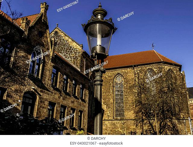 The Minden Cathedral St. Gorgonius and St. Peter in the East Westphalian town of Minden in North Rhine-Westphalia