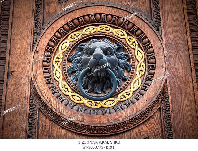 Doorknocker with head of lion