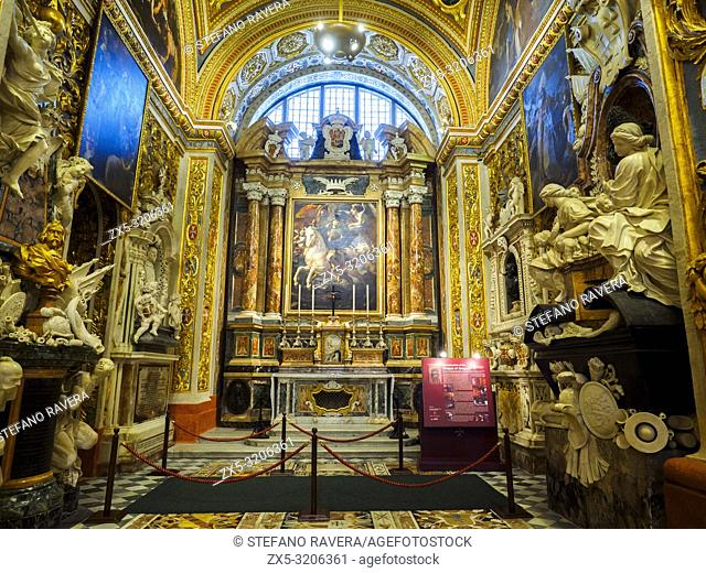 The chapel of the langue of Aragon, Catalonia and Navarre in St John's Cathedral - Valletta, Malta