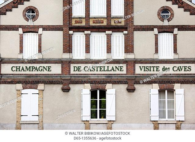 France, Marne, Champagne Region, Epernay, Castellane champagne winery, detail
