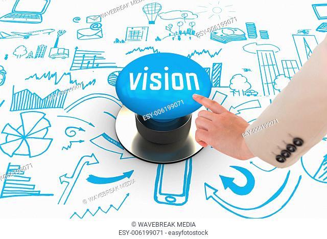 Vision against blue push button