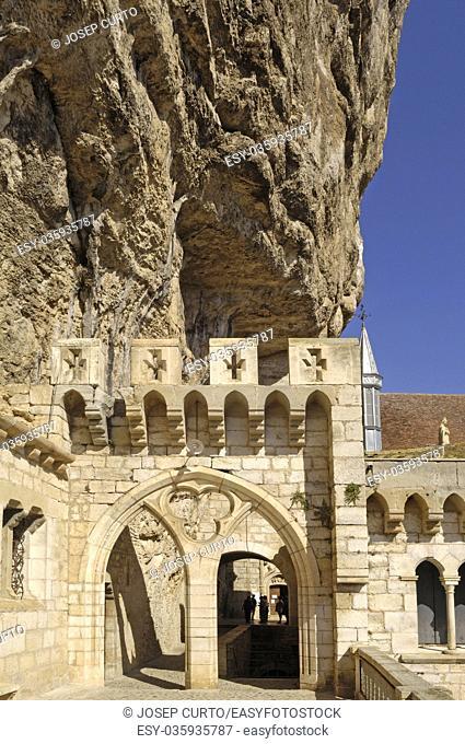 arch of churc Rocamadour, France