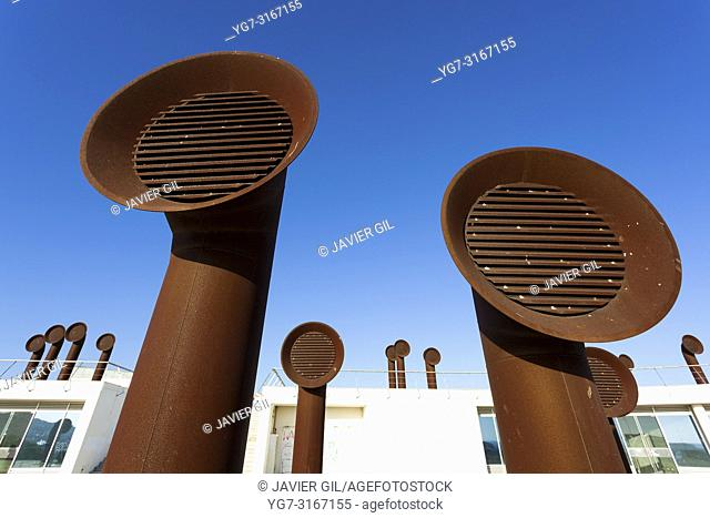 Ventilation pipes, Albufeira, Algarve, Portugal
