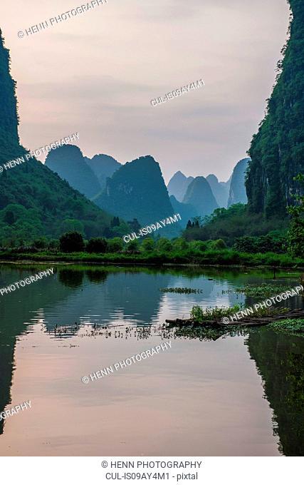 Still lake, Guangxi, China