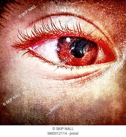 Closeup on a child's eye