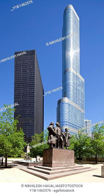 George Washington Robert Morris Hyam Salomon Memorial, Chicago, Illinois