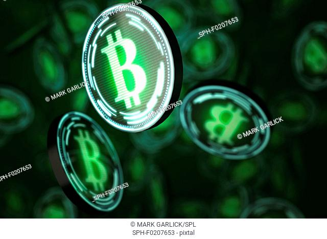 Bitcoins, illustration
