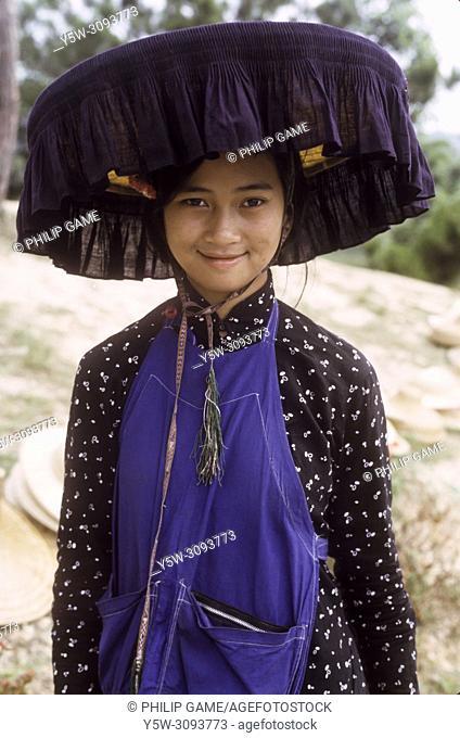 Hakka Chinese peasant woman in the New Territories of Hong Kong, 1966