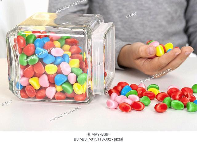 Boy eating candies