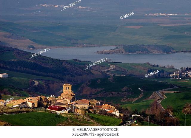 Alloz reservoir. Navarre. Spain