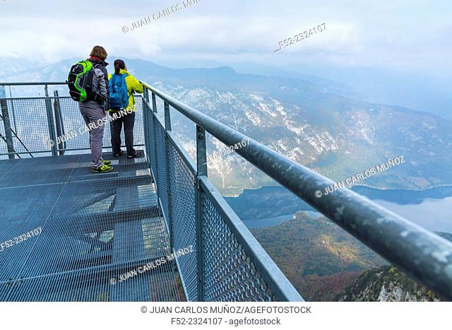 Cable car from Lake Bohinj to a height of 1537 m, Triglav National Park, Julian Alps, Municipality of Bohinj, Slovenia, Europe