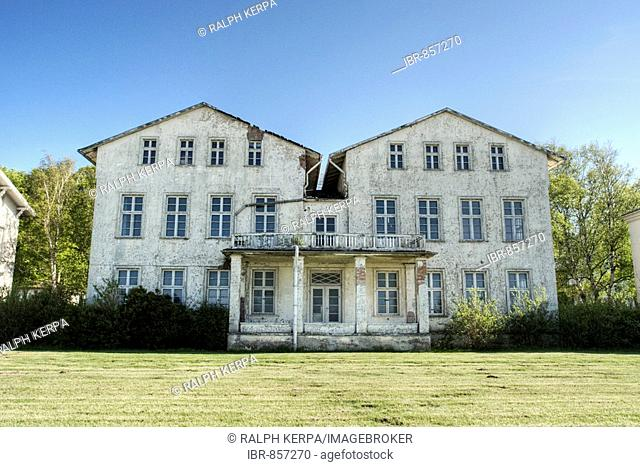 Dilapidated mansion at the beach promenade in Heiligendamm, Mecklenburg-Western Pomerania, Germany, Europe