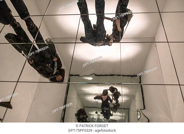 DYNAMO EXHIBITION, PLAY OF MIRRORS ON THE GROUND, GRAND PALAIS, PARIS, FRANCE