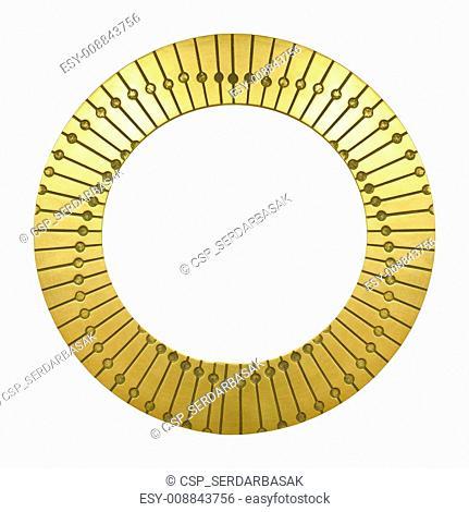 Gold frame round