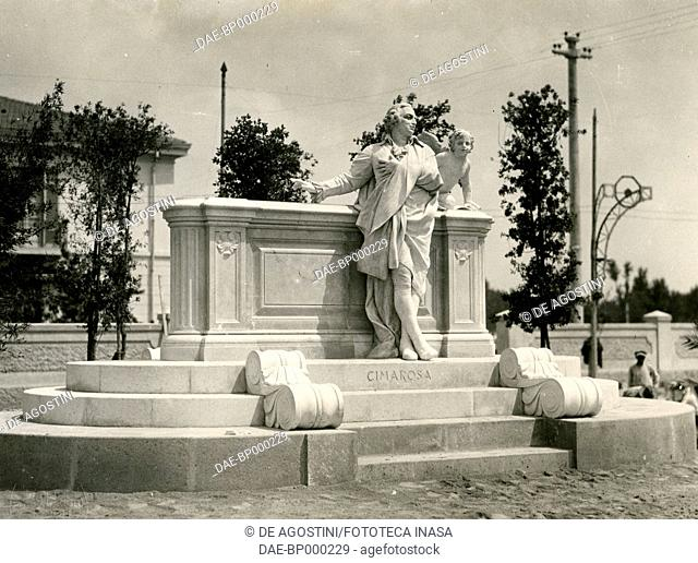 Monument to the composer Domenico Cimarosa, by Francesco Jerace (1853-1937), Aversa, Campania, Italy, 1910-1920