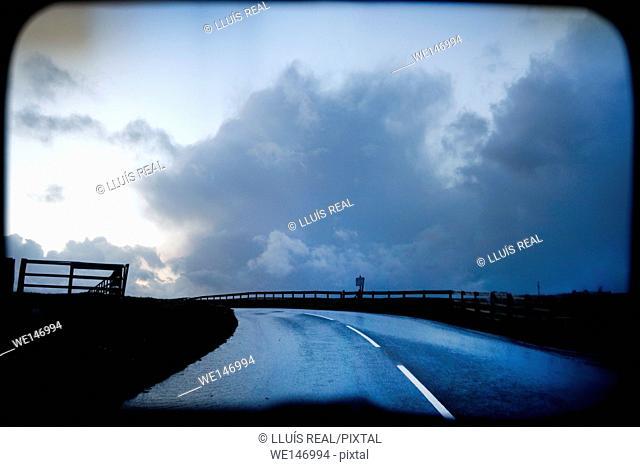 Carretera, landscape, atmosfera, carretera, camino, ruta