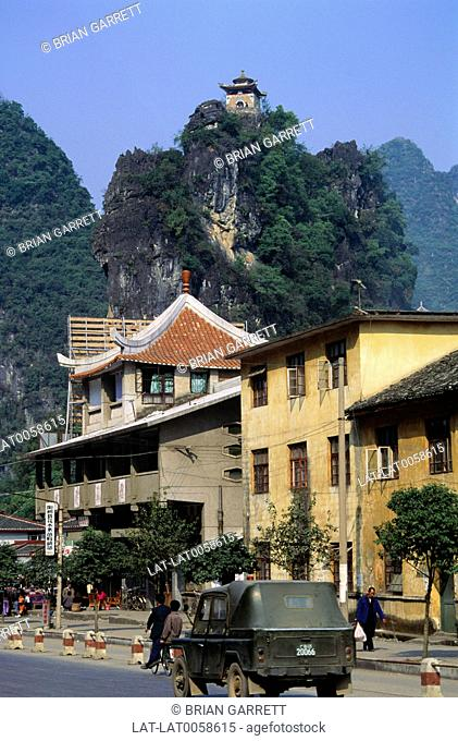 Yangshuo is a small town in Guilin,Guangxi Province,China,and the seat of Yangshuo County which is surrounded by towering limestone rock formations or tree...