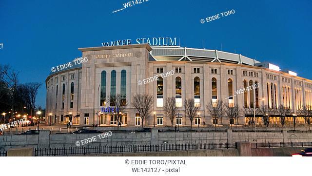 BRONX, NEW YORK - DECEMBER 5: The new Yankee Stadium at night. Taken December 5, 2014, . Bronx, N Y