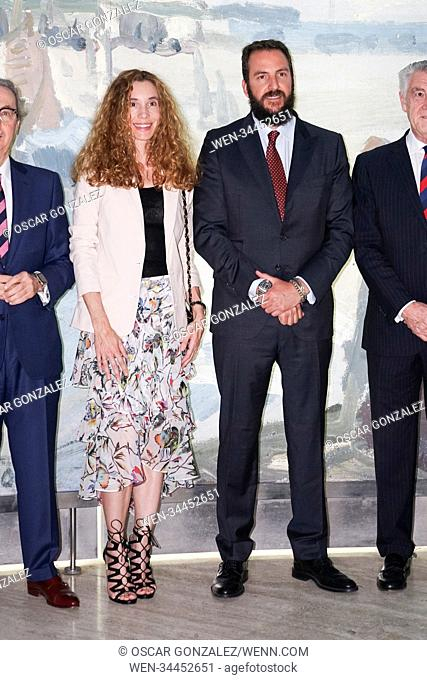 Borja Thyssen and Blanca Cuesta attend the opening of the Monet / Boudin exhibition at the Thyssen-Bornemisza Museum in Madrid, Spain