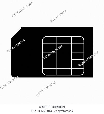 Sim card it is the black color icon