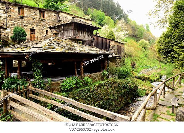 Os Teixois, etnographic village. Taramundi Concejo, Principality of Asturias, Spain