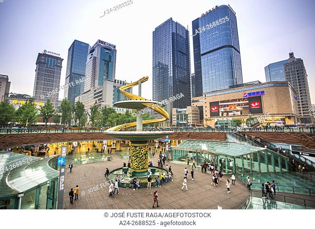 China, Sichuan Province, Chengdu City, Tianfu Square