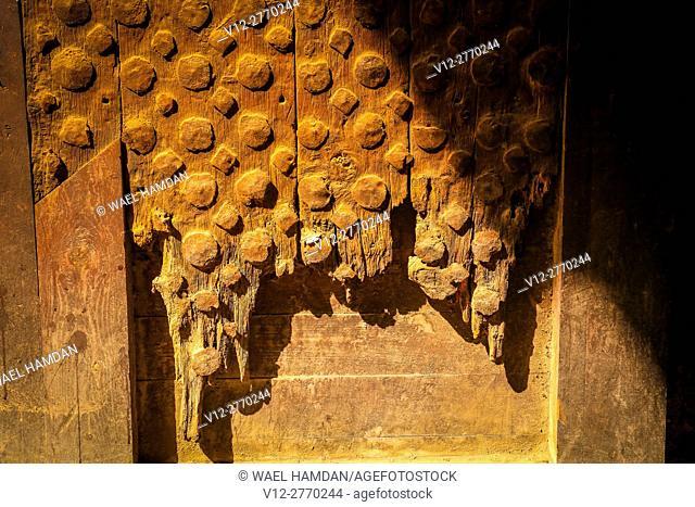 Wooden door old city, City of Cairo, Egypt