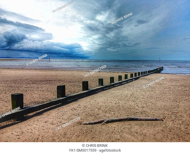 Seascape in Rhyl Wales UK