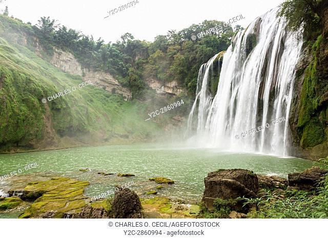 Guizhou Province, China. Yellow Fruit Tree (Huangguoshu) Waterfall
