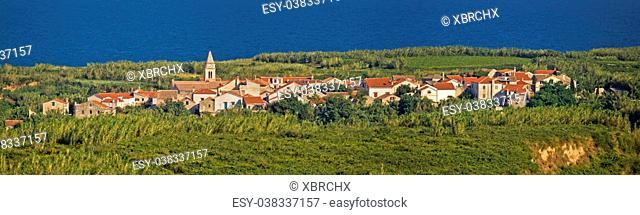 Mediterranean village on Island of Susak, Croatia - village on sandy island in reed and bamboo jungle