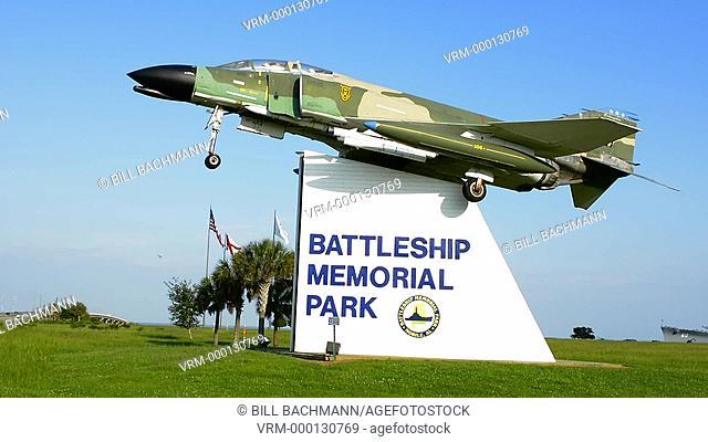 Mobile Alabama Battleship Memorial Park fighter jet entrance museum memoial