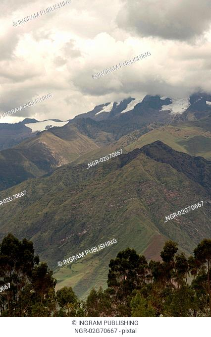 Clouds over a mountain range, Sacred Valley, Cusco Region, Peru
