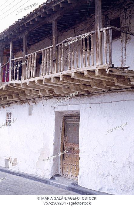 Facade of traditional house. Escalona, Toledo province, Castilla La Mancha, Spain