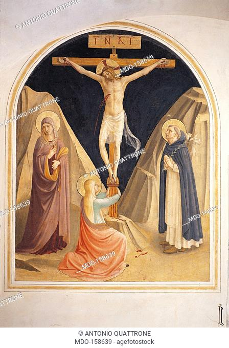 The Crucifixion with the Virgin, Mary Magdalene and St Dominic, by Guido di Pietro (Piero) known as Beato Angelico, 1438 - 1446 about, 15th Century