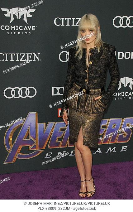 """Pom Klementieff at The World Premiere of Marvel Studios' """"""""Avengers: Endgame"""""""" held at the Los Angeles Convention Center, Los Angeles, CA, April 22, 2019"""