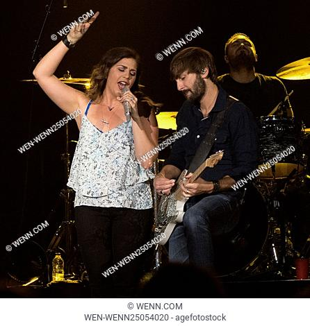 Lady Antebellum performing at Scotiabank Saddledome in Calgary Featuring: Hillary Scott, Dave Haywood Where: Calgary, Canada When: 15 Jul 2016 Credit: WENN