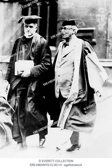 WILLIAM BUTLER YEATS, with Vice Chancellor of Oxford. 1931 - CPL Archives/Everett Collection