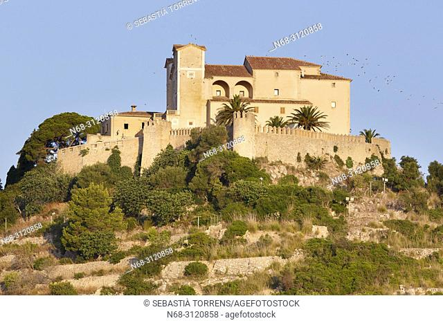 Santuari de Sant Salvador and walls, Arta, Majorca, Balearic Islands, Spain