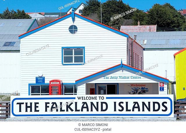 Colourful Falklands architecture, Stanley, Falkland Islands