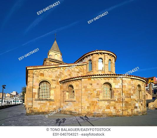 Gijon San Pedro church in Asturias Spain
