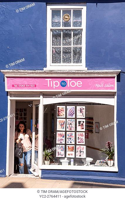 The Tip to Toe nail salon shop store in Cromer , Norfolk , England , Britain , Uk