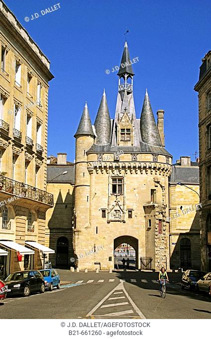 France. Gironde. 'Porte Cailhau ' a door in the walls of the old  Bordeaux