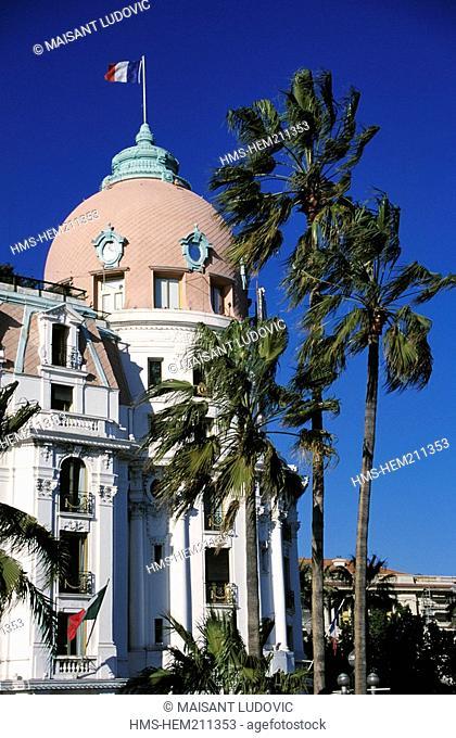 France, Alpes Maritimes, Nice, Negresco Hotel 1912, facade