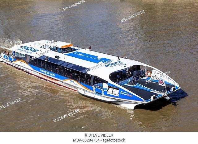 England, London, Thames Clipper
