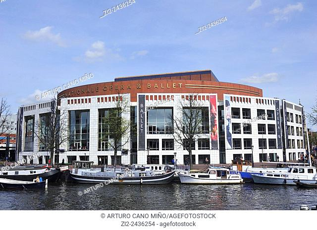 Dutch National Opera by Cees Dam and Wilhelm Holzbauer, 1986. Amsterdam, Netherlands